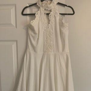 White Halter Minidress